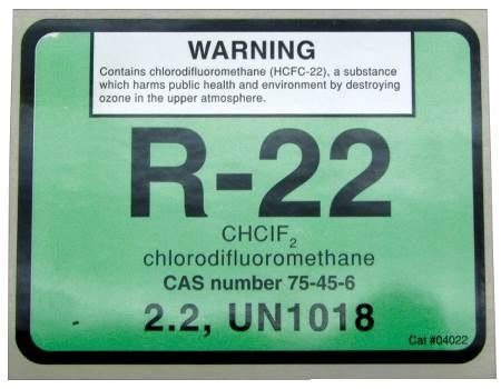 R-22 Refrigerant ID Labels 10 Pack