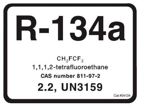 R-134A Refrigerant ID Labels 10 Pack