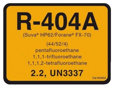 R-404A Refrigerant ID Labels 10 Pack