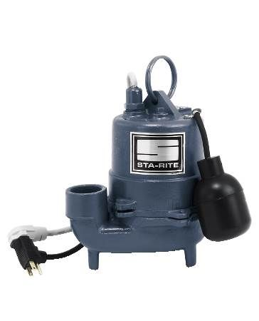 High Temperature Cast Iron Submersible Pump 1/3 HP, 115 Volt