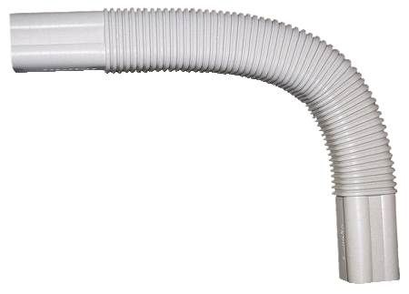 "SlimDuct White 20"" Long Flexible Ell"