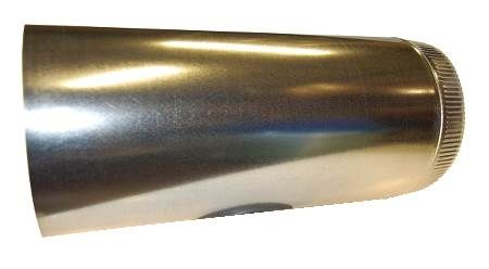 "6"" round damper pre-installed in sheet metal sleeve"