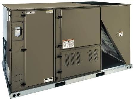 Single Packaged Heat Pump — Economizer, 208/230 Volt 12 Ton, High Efficiency, Three-Phase, Commercial, R410A