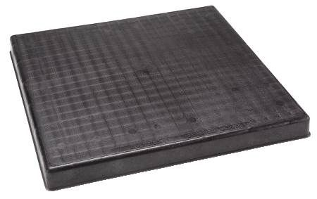 "3"" The Black Pad® Plastic Equipment Pad 32x32x3"