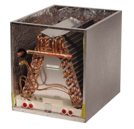 Cased Upflow/Downflow Evaporator Coil - CC Series Coleman/Evcon Matches - Champagne Paint