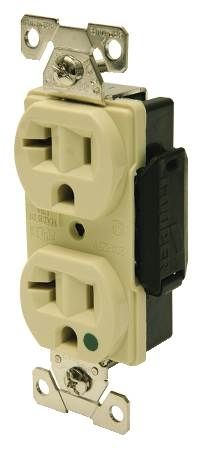 Hospital Grade Duplex Receptacle Specification Grade, Back and Side Wire
