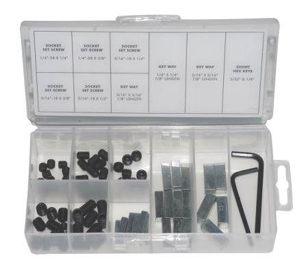 Set Screw/Keystock Kit Contains 77 Pieces