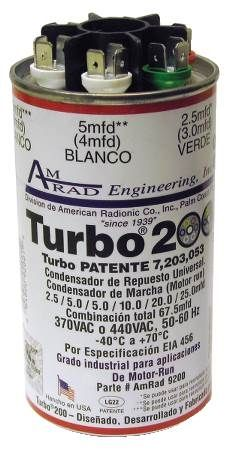 Turbo™ 200 Universal Replacement Capacitor
