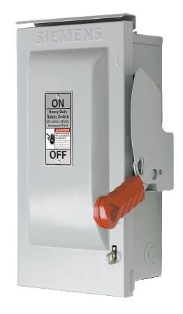 Outdoor Heavy Duty Safety Switch Three-Phase, 600VAC/480VAC, Fused, 3-Pole, 3-Wire