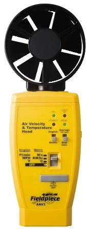 "Anemometer Accessory Head Converts ""Stick"" Meter to Anemometer"