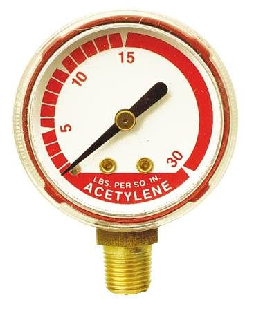 Replacement Acetylene Gauge