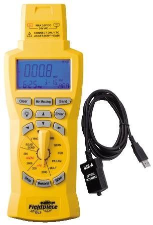 Data Logger Data Log Any Parameters Measured by a Fieldpiece Accessory Head