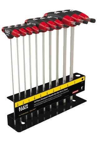"9"" T-Handle Hex Key Set"