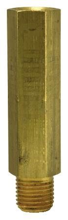 1/4 IN Brass Test Plug Extension For Pressure and Temperature Test Readings