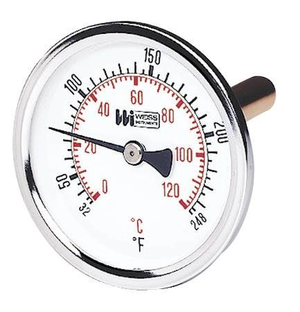 Hot Water Bi-Metal Dial Thermometer