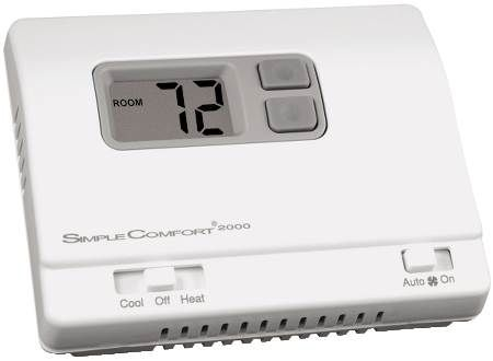 SimpleComfort Standard Series Electronic Non-Programmable Thermostat