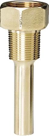 "Thermowell, 3/4"" NPT 3-1/2"" Brass Socket"