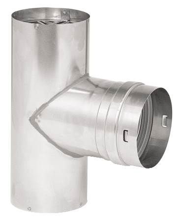"4"" Single Wall Corrguard Value Stainless Steel Male Tee Termination"