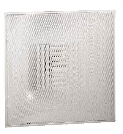 Commercial T-Bar Curved-Blade Perforated Diffusers 12 W
