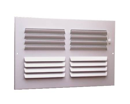 Curved Blade Sidewall/Ceiling Registers 14 08 W