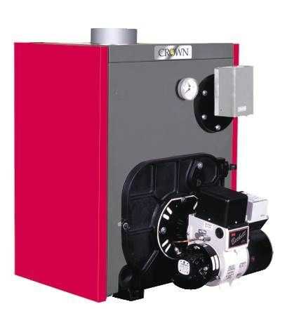Tobago Cast Iron Oil Hot Water Boiler With Front Mounted Tankless Coil for Domestic Hot Water
