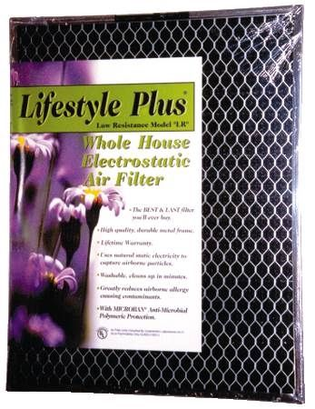 "14""x20""x1"" LifeStyle® Plus Low Resistance Electrostatic Air Filters"