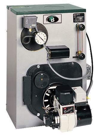 WV-DV Series Oil Fired Hot Water Boiler Residential, Fully Packaged, Natural Draft, Cast Iron