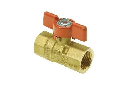 "1/2"" Ball Valve for Gas with NPT Female Connections"