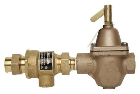 Combination fill valve and dual check with vent backflow