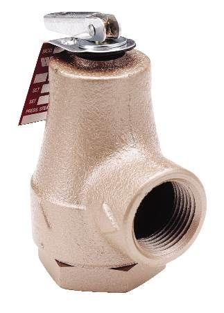 3/4 IN Iron Boiler Pressure Relief Valve Forged Bronze Inlet 30 PSI For Protection of Hot Water Heating Boilers