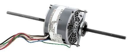 3-Speed Blower Motor Universal Mounting, Double Extended Shafts