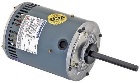 Three-Phase Condenser Fan Motors Direct Drive, 56 Frame, 1.0 Service Factor, Ball Bearing, Continuous Duty
