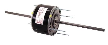 "Room Air Conditioner Motor 60 Hz, PSC|Thermally protected |Shaft: flatted on both extensions |Studs: four on both ends of motor, 5-3/16"" centers 