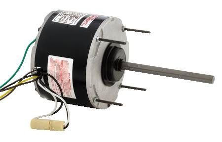 Single-Speed Condenser Fan Motor Horizontal or Vertical Shaft Up Applications