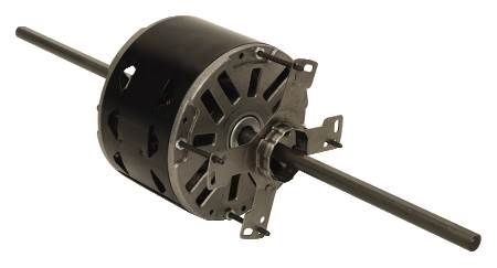 "Double Shaft Fan and Blower Motor Single-Phase, 48 Frame, 1625 or 1075 RPM, Sleeve Bearing ""Conservationist"" Energy-Efficient Design"