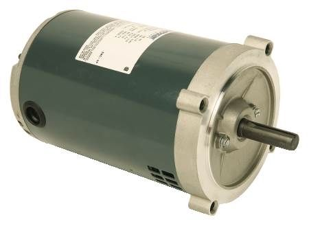 Single-Phase C-Face, 56 Frame, Ball Bearing Motor Split-Phase, Electrically Reversible