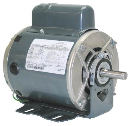 Resilient Base Capacitor Start General Purpose Motor Single-Phase, Dripproof, NEMA Service Factor