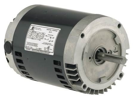 56CZ Frame Single-Phase, Split-Phase, C-Face Motor 850 RPM, Dripproof