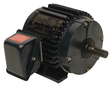 Three-Phase, TEFC, High Efficiency Motor Rigid Base, 230/460 Volts, 1800 RPM