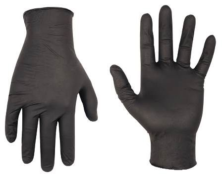 Black Nitrile Disposable Non-Powdered Gloves