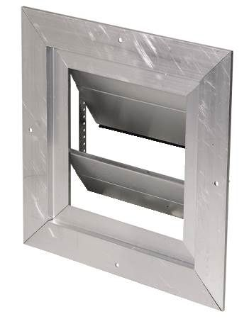 "Wall Mount Damper - 13""x13"" wall opening"