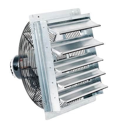 "Direct Drive Axial Shutter Fans - 12"" - 800 CFM"