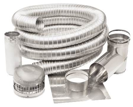 "6"" x 35' Stainless Steel Liner Kit With Tee Connector"