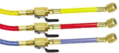 "1/4"" Whip End Charging Hose Set with Ball Valve Fittings"