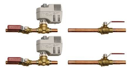 "1/2"" HW and 3/4 CW Three-Way Body Piping Package"