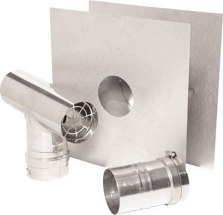 "3"" Single Wall Corrguard Value Stainless Steel Horizontal Unit Heater Kit"