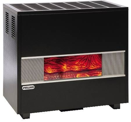 "Vented Gas Console Heater Glass Front ""Fireplace-Look"" Model"
