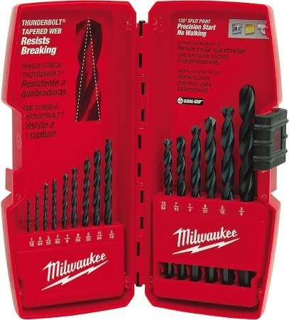 Thunderbolt® Black Oxide Drill Bit Set