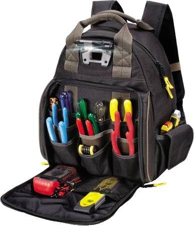 53-Pocket Tech Gear™ LED Lighted Tool Backpack