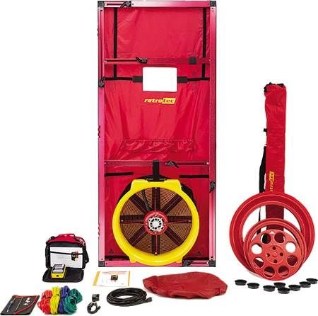 Blower Door Air Leakage Testing System with Wi-Fi